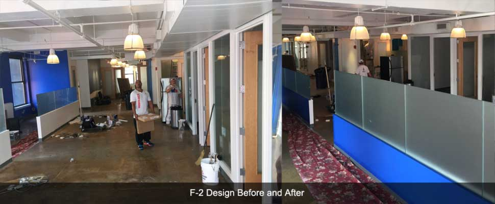 F2 Designs Office Installation Before and After